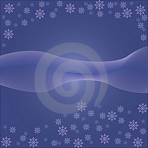 Background With Snowflakes Royalty Free Stock Photography - Image: 21819927