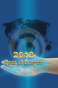 New Year Of Dragon 2012 Royalty Free Stock Images - Image: 21823209