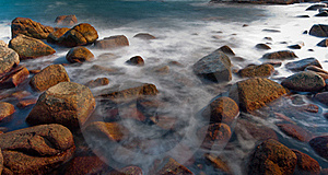 Rock In Sea Royalty Free Stock Photography - Image: 21826147