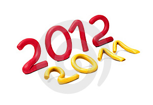 2012 And 2011 Are Made Of Plasticine. Royalty Free Stock Images - Image: 21828409