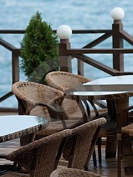 Cafe Near Sea Stock Image - Image: 21828511