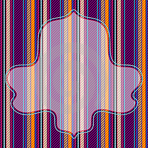 Vivid Striped Pattern With Frame Royalty Free Stock Photography - Image: 21834687
