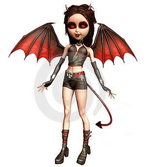Little Devil Girl Royalty Free Stock Image - Image: 21835806