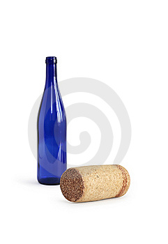 Cork And Bottle Royalty Free Stock Images - Image: 21836429