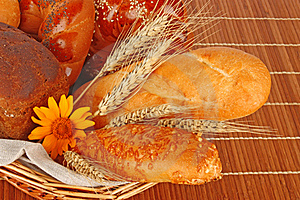 Composition Of Fresh Bread Stock Photos - Image: 21858843