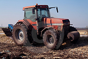 Tractor At Work On Farm Stock Photography - Image: 21859402