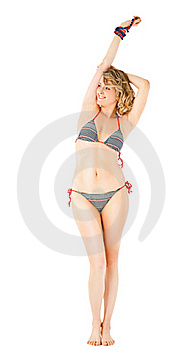 Beauty Female With Swimsuit Stock Photos - Image: 21861683