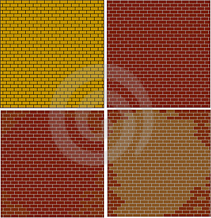 Abstract Brick Walls Set Textured Red Color Royalty Free Stock Image - Image: 21865976