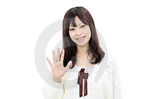 Portrait Of Young Asian Woman Royalty Free Stock Photography - Image: 21872957