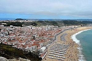 Nazaré In Portugal Royalty Free Stock Image - Image: 21874686
