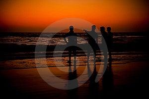 Sunset Or Sunrise At Beach Stock Image - Image: 21884821