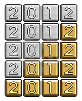2012 Inscription Of Silver And Gold Bullion Royalty Free Stock Image - Image: 21885486