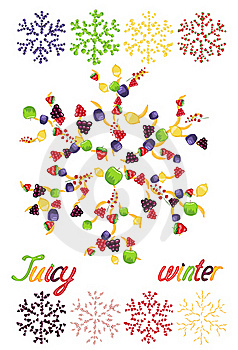 Juicy Snowflakes On White Background Royalty Free Stock Photos - Image: 21887178