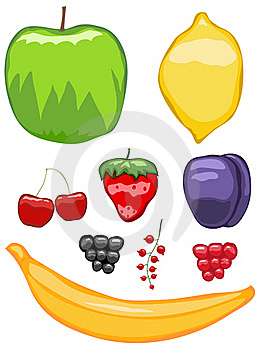 Mouth-watering Fruit Icons Royalty Free Stock Photography - Image: 21887187