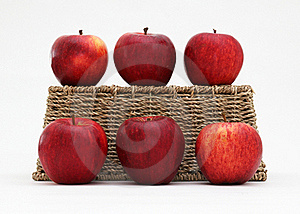 Apples And A Basket Royalty Free Stock Photo - Image: 21887515