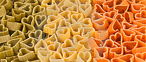 Italian Flag Made From Color Pasta Of Heart Royalty Free Stock Images - Image: 21888009