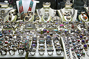 Silver Jewelery Shop Royalty Free Stock Photography - Image: 21894927