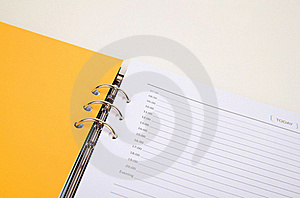 Closeup Of Day Planner Royalty Free Stock Images - Image: 21896639