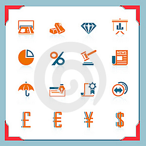 Finance Icons | In A Frame Series Stock Photos - Image: 21898283