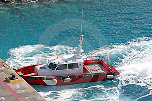 Red Pikot Boat Royalty Free Stock Photos - Image: 2198098
