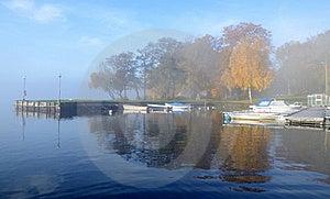 Foggy Small Boats Harbor Stock Photos - Image: 21904463
