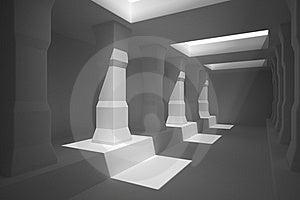 Long Corridor Of Pillars Royalty Free Stock Photo - Image: 21904985