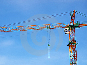 Just Crane And Blue Sky Royalty Free Stock Image - Image: 21910056