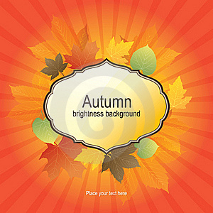 Autumn Background With Bright Leaves Stock Photography - Image: 21910962