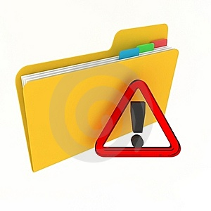 Attention Folder Royalty Free Stock Photos - Image: 21935058
