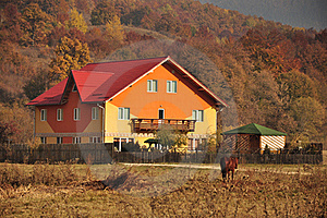Rural Accommodation Village Stock Images - Image: 21937484