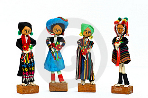 Four Tribes Natives On White Royalty Free Stock Photo - Image: 21938065