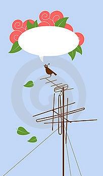 Bird On Antenna Royalty Free Stock Image - Image: 21940786