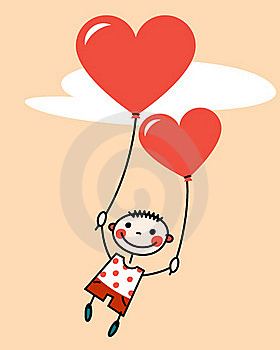 Boy With Balloons Royalty Free Stock Image - Image: 21945126