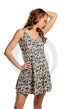 Young Woman Wearing A Summer Dress Stock Photography - Image: 21945392