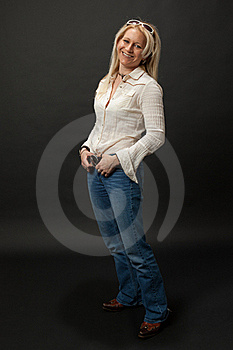 Studio Cowgirl Royalty Free Stock Photography - Image: 21945457