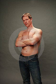 Fit Older Male With No Shirt Royalty Free Stock Image - Image: 21945796