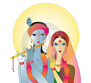 Radha Krishna  Abstract Royalty Free Stock Images - Image: 21945829