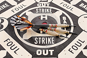 Baseball Style Dart Game Royalty Free Stock Image - Image: 21946826