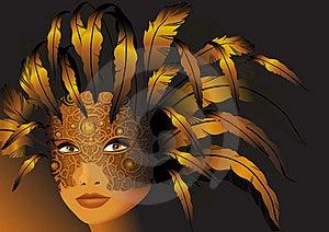 Gold Mask Stock Photography - Image: 21949222