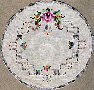 Handmade Embroidery Placemat Stock Photo - Image: 21956660