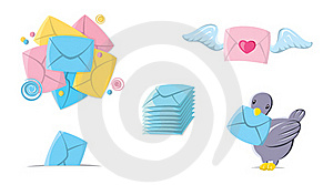 Icons Mail Royalty Free Stock Photos - Image: 21958618