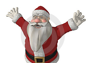 Santa Has Somrthing Exciting To Say! Royalty Free Stock Images - Image: 21959589