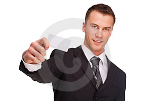 Studio Shot Of A Business Man On White Background Royalty Free Stock Photos - Image: 21967798