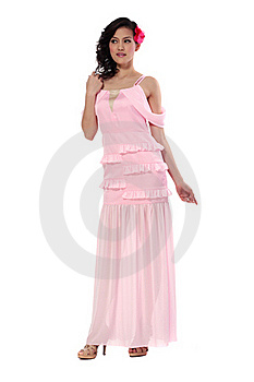 Young Woman In Stylish Dress Royalty Free Stock Photo - Image: 21973095
