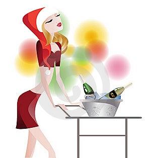 Waitress Glamorous Royalty Free Stock Image - Image: 21975076