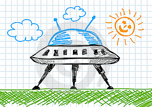 Drawing Of Spacecraft Stock Images - Image: 21976074