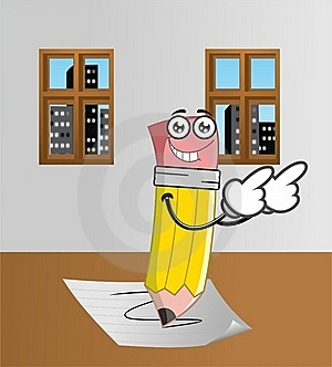 Happy Pencil Stock Photography - Image: 21977042