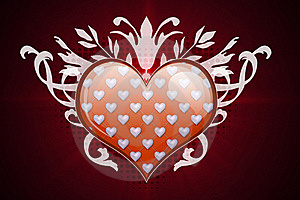 Heart And Flourish Stock Photos - Image: 21980303