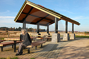 Recreational & Picnic Area Shelter. Stock Image - Image: 21980311