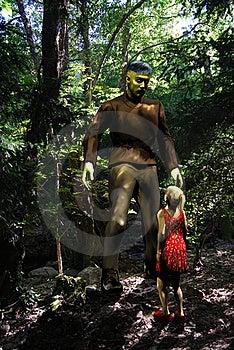 Frankenstein Monster And Little Girl Royalty Free Stock Photo - Image: 21980485